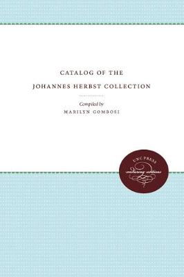 Catalog of the Johannes Herbst Collection (Paperback)