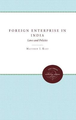Foreign Enterprise in India: Laws and Policies (Paperback)