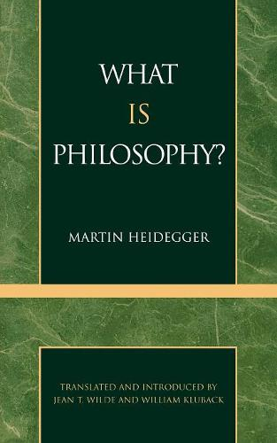 What is Philosophy? (Paperback)