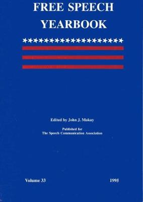 Free Speech Yearbook: 1995 Volume 33 - Free Speech Yearbook (Paperback)