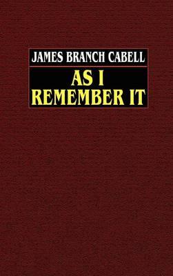 As I Remember it (Hardback)