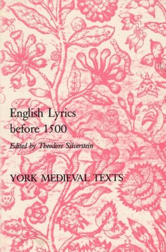 English Lyrics before 1500 (Paperback)
