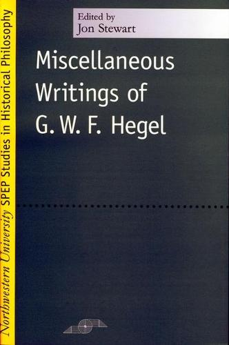 Miscellaneous Writings - Studies in Phenomenology and Existential Philosophy (Paperback)