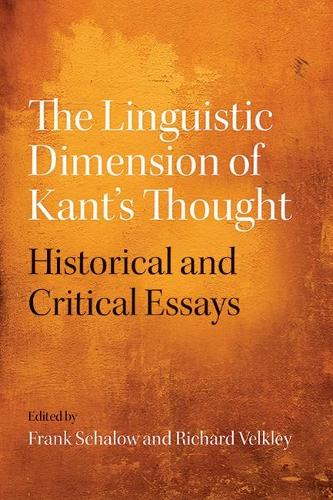 The Linguistic Dimension of Kant's Thought: Historical and Critical essays (Hardback)