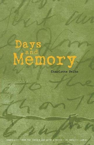 Days & Memory (Paperback)