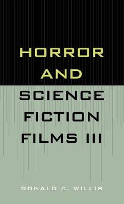 Horror and Science Fiction Films III (1981-1983) (Hardback)