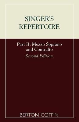 The Singer's Repertoire, Part II (Paperback)