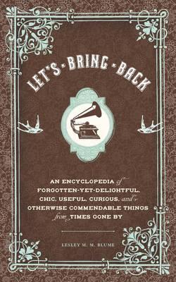 Lets Bring Back (Hardback)