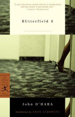Butterfield 8 - Modern Library Classics (Paperback)