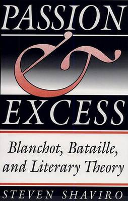 Passion and Excess: Blanchot, Bataille and Literary Theory (Hardback)