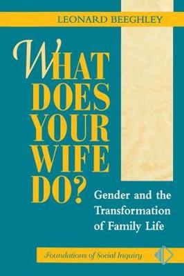 What Does Your Wife Do?: Gender And The Transformation Of Family Life (Paperback)