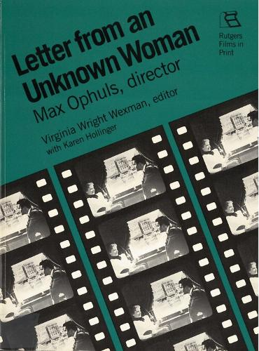 Letter from an Unknown Woman - Rutgers Films in Print (Paperback)