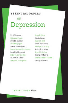 Essential Papers on Depression - Essential Papers on Psychoanalysis (Paperback)