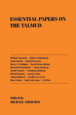 Essential Papers on the Talmud - Essential Papers on Jewish Studies (Paperback)