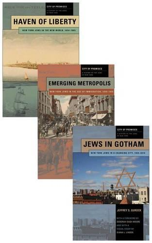 City of Promises: A History of the Jews of New York, 3-volume box set - City of Promises (Hardback)