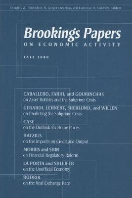 Brookings Papers on Economic Activity: Fall 2008 (Paperback)