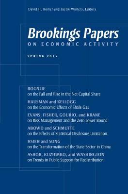Brookings Papers on Economic Activity: Spring 2015 (Paperback)