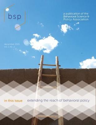 Behavioral Science & Policy (Paperback)