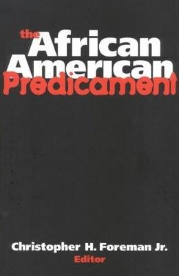 The African American Predicament (Paperback)