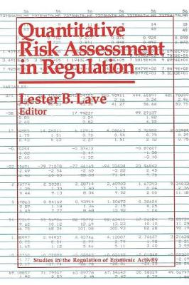 Quantitative Risk Assessment in Regulation (Paperback)