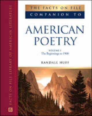 The Facts on File Companion to American Poetry - Companions to Literature (Hardback)