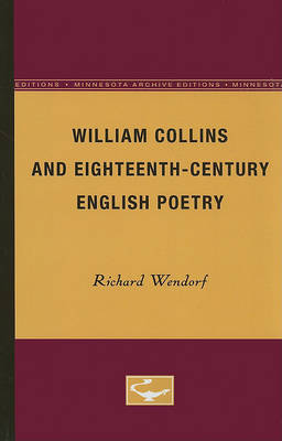 William Collins and Eighteenth-Century English Poetry (Paperback)