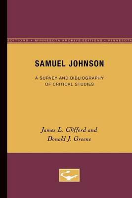 Samuel Johnson: A Survey and Bibliography of Critical Studies (Paperback)