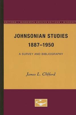 Johnsonian Studies, 1887-1950: A Survey and Bibliography (Paperback)