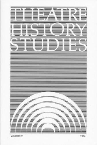 Theatre History Studies 1984: Volume 4 (Paperback)