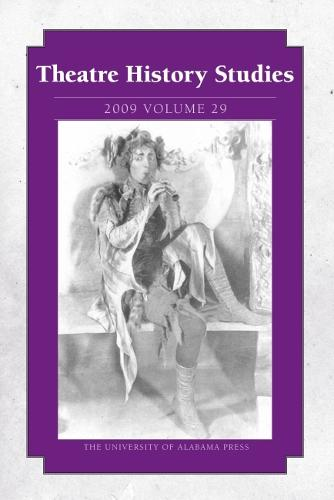 Theatre History Studies v. 29 (Paperback)