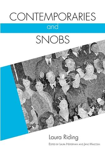 Contemporaries and Snobs - Modern & Contemporary Poetics (Paperback)