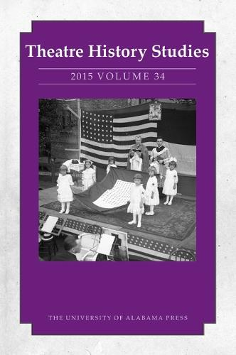 Theatre History Studies 2015, Volume 34 (Paperback)