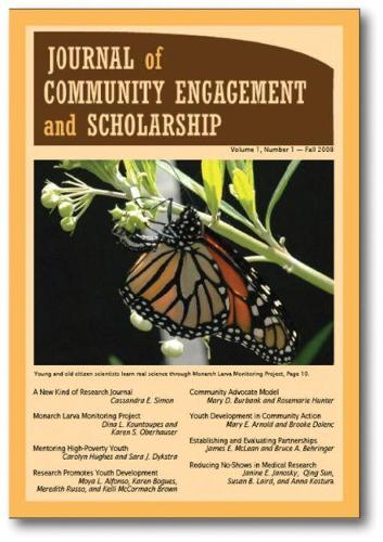 Journal of Community Engagement and Scholarship, Vol 1 No 1: Fall 2008 (Paperback)