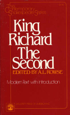 King Richard II: Modern Text with Introduction - The Contemporary Shakespeare Series 10 (Paperback)