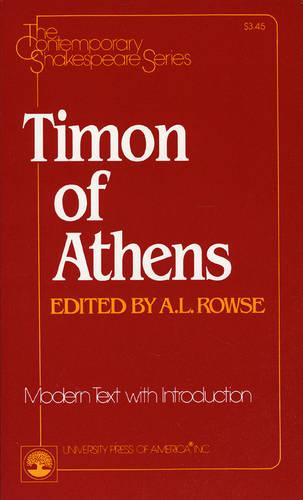 Timon of Athens - The Contemporary Shakespeare Series 36 (Paperback)