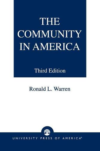 The Community in America (Paperback)