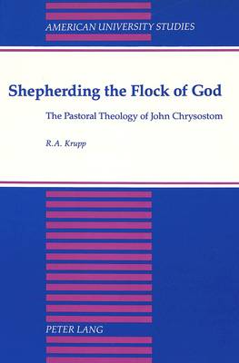 Shepherding the Flock of God: The Pastoral Theology of John Chrysostom - American University Studies, Series 7: Theology & Religion 101 (Hardback)