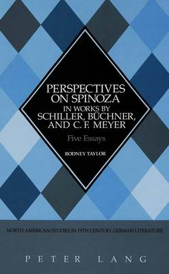 Perspectives on Spinoza in Works by Schiller, Buechner, and C.F. Meyer: Five Essays - North American Studies in Nineteenth-century German Literature and Culture 18 (Hardback)