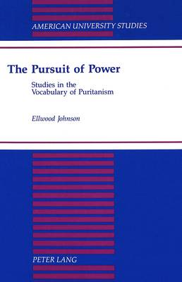 The Pursuit of Power: Studies in the Vocabulary of Puritanism - American University Studies, Series 7: Theology & Religion 180 (Hardback)