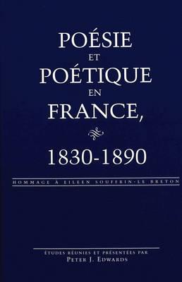 Poesie et Poetique en France, 1830-1890: Hommage a Eileen Souffrin-le Breton - Currents in Comparative Romance Languages & Literatures 101 (Hardback)