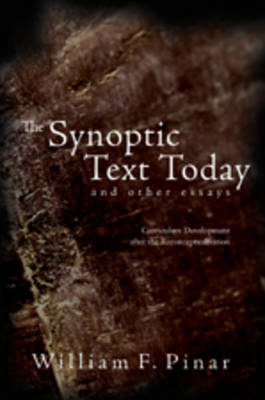The Synoptic Text Today and Other Essays: Curriculum Development After the Reconceptualization - Complicated Conversation: A Book Series of Curriculum Studies 15 (Paperback)