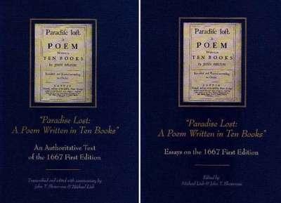 Paradise Lost -- A Poem Written in Ten Books: 2 Volume Set: Text & Essays (Hardback)
