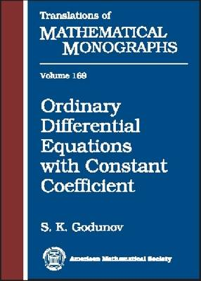 Ordinary Differential Equations with Constant Coefficient - Translations of Mathematical Monographs (Hardback)