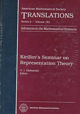 Kirillov's Seminar on Representation Theory - American Mathematical Society Translations (Hardback)
