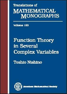 Function Theory in Several Complex Variables - Translations of Mathematical Monographs (Hardback)
