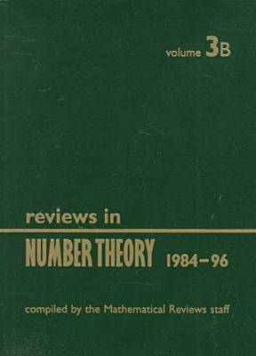 Reviews in Number Theory 1984-1996: v.3 (Paperback)