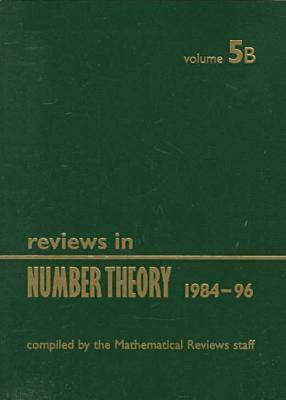 Reviews in Number Theory 1984-1996: v.5 (Paperback)