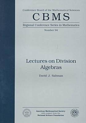 Lectures on Division Algebras - CBMS Regional Conference Series in Mathematics (Paperback)