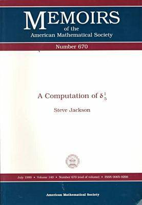 A Computation of Delta 1/5 - Memoirs of the American Mathematical Society (Paperback)