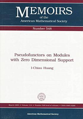 Pseudofunctors on Modules with Zero Dimensional Support - Memoirs of the American Mathematical Society (Paperback)